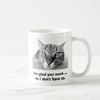 Lazy Cat Classic White Coffee Mug