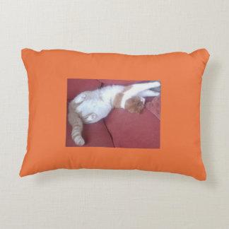 Lazy Cat Double Design Pillow Pink Orange