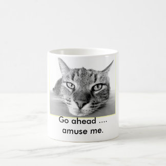 Lazy Cat Go Ahead Amuse Me Coffee Mug