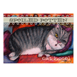 Lazy cat large business card