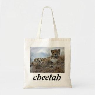 lazy cheeta, cheetah budget tote bag