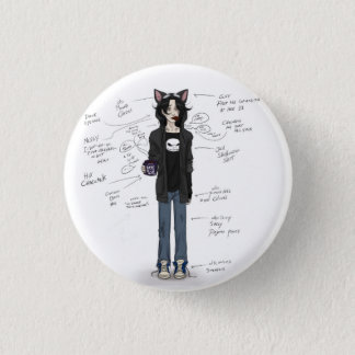 Lazy, comfy and happy… kind of happy. pinback button