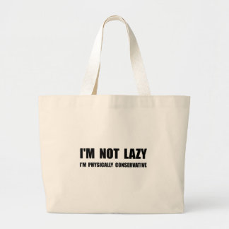 Lazy Conservative Large Tote Bag