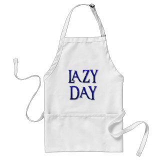 Lazy day adult apron