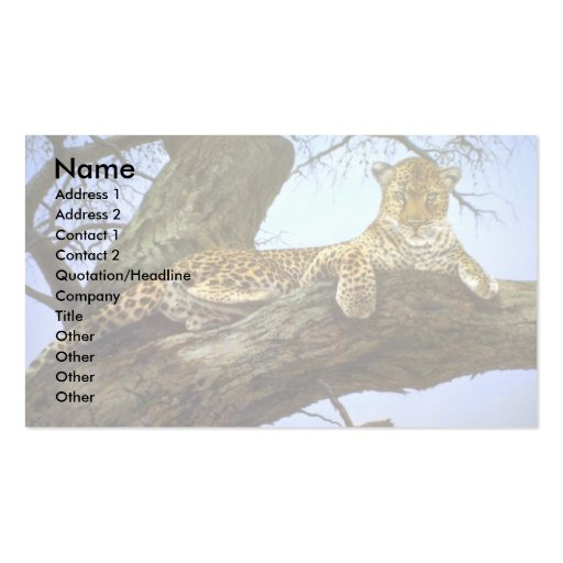 Lazy day, Leopard Business Card