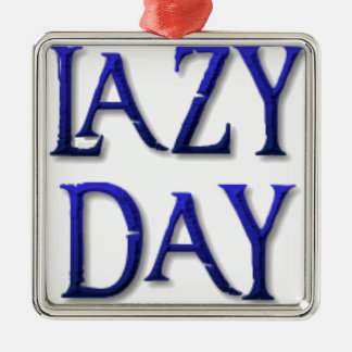 Lazy day metal ornament