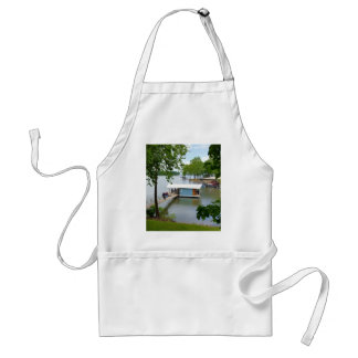 Lazy Days of Summer Path to Boat House Adult Apron