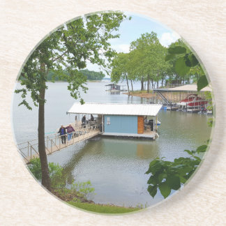 Lazy Days of Summer Path to Boat House Sandstone Coaster