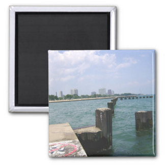 Lazy Days on the Dock 2 Inch Square Magnet