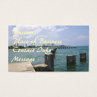 Lazy Days on the Dock Business Card