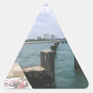 Lazy Days on the Dock Triangle Sticker