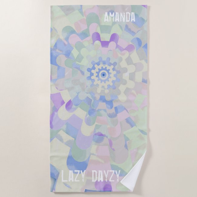 Lazy Dayzy Colorful Abstract with Your Name