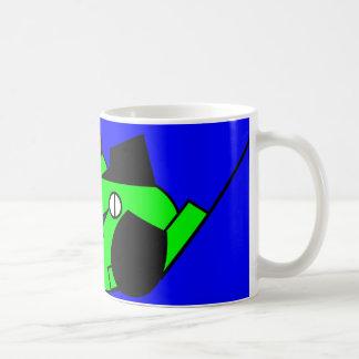 Lazy Dog - green Classic White Coffee Mug