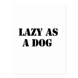 lazy dog postcard
