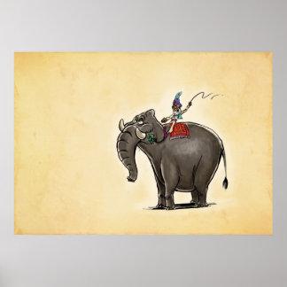 Lazy Elephant Poster