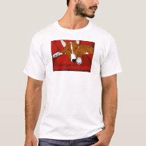 Lazy English Bull Terrier Dog Breed Illustration T-Shirt