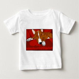 Lazy English Bull Terrier Dog Breed Illustration Tee Shirt