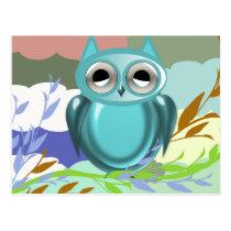 Lazy Eyed Owl Postcard