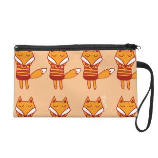 lazy fox by sancraft wristlet purse