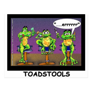 Lazy Frogs aka Toadstools Funny Gifts & Tees Postcard