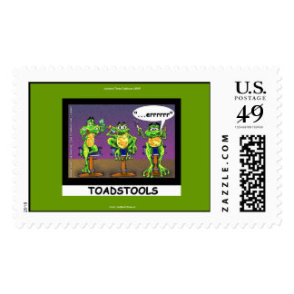 Lazy Frogs aka Toadstools Funny U.S. Stamps