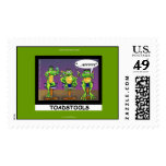 Lazy Frogs aka Toadstools Funny U.S. Stamps Postage Stamps