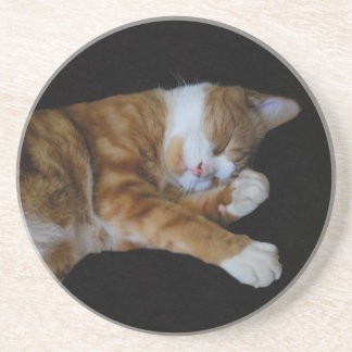 Lazy Ginger cat Drink Coaster