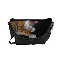 Lazy Ginger cat Small Messenger Bag