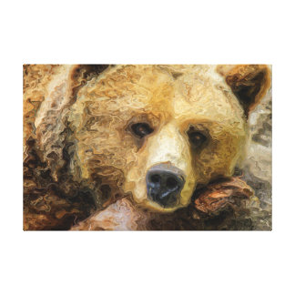 Lazy Grizzly Bear Canvas
