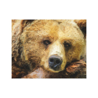 Lazy Grizzly Bear Canvas Print