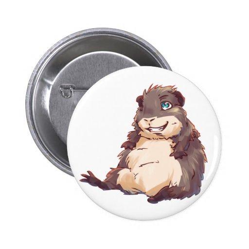 Lazy Guinea Pig Pinback Button