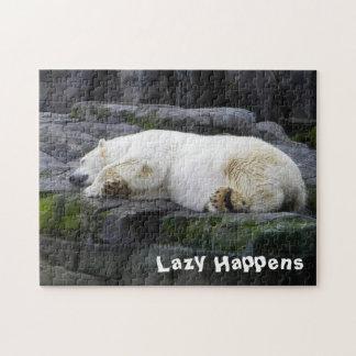 Lazy Happens Polar Bear Jigsaw Puzzle