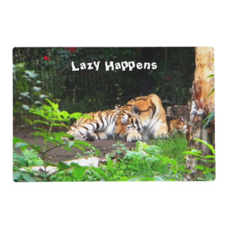 Lazy Happens Siberian Tiger Placemat