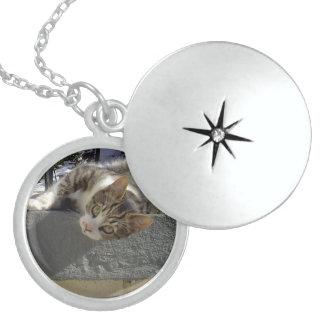 Lazy Kitty Sterling Silver Necklace