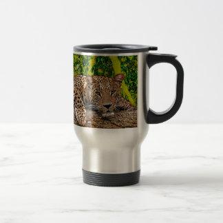 Lazy Leopard Travel Mug