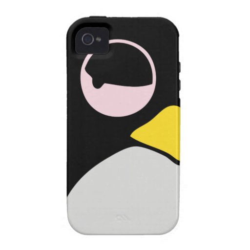 LAZY LINUX TUX PENGUIN Case-Mate iPhone 4 COVER