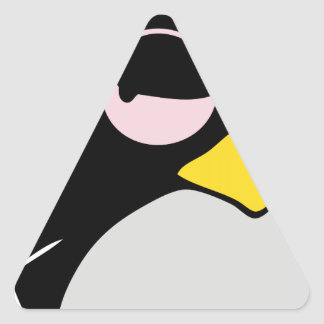 LAZY LINUX TUX PENGUIN TRIANGLE STICKER