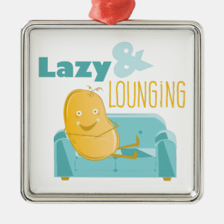 Lazy Lounging Metal Ornament