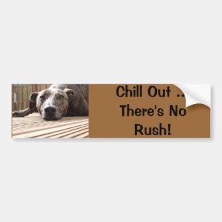 Lazy Lurcher Bumper Sticker