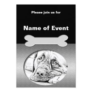 "Lazy Mastiff 5"" X 7"" Invitation Card"