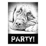 Lazy Mastiff Invitations