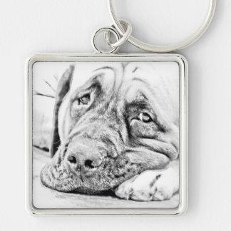 Lazy Mastiff Keychain