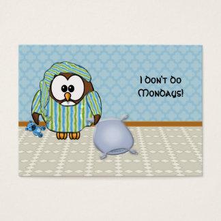 lazy owl - I don't do Mondays! Business Card