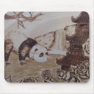 Lazy Panda Bath Mouse Pad