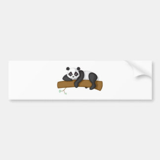 Lazy Panda Bumper Sticker