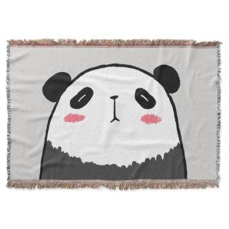 Lazy Panda Throw Blanket