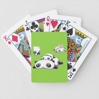 Lazy Pandas Bicycle Playing Cards