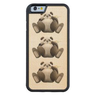 Lazy Pandas Carved Maple iPhone 6 Bumper Case