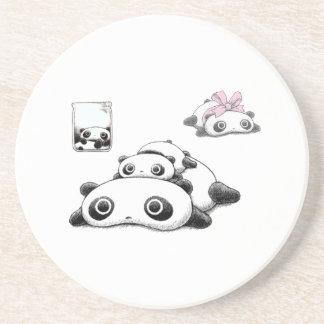 Lazy Pandas Drink Coaster