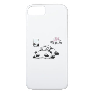 Lazy Pandas iPhone 7 Case